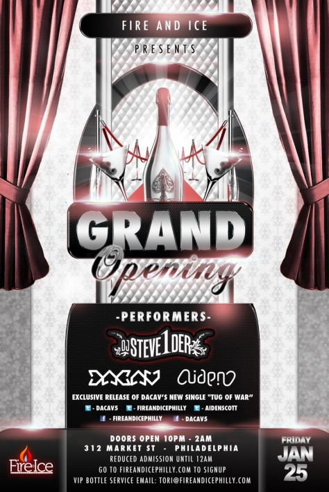 Fire & Ice flyer (grand opening)